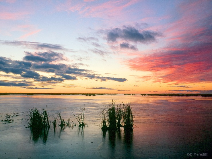 Little Quill Lake at sunset, Saskatchewan, Canada