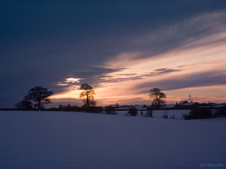 Winter sunrise, Hatherton, Cheshire, England