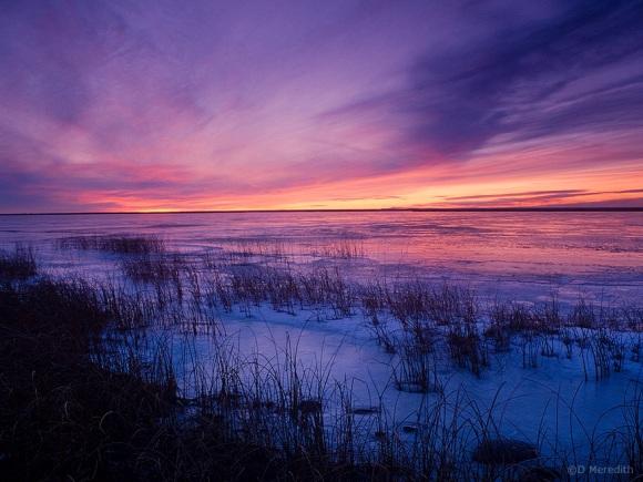 Last Mountain Lake at sunset, Saskatchewan, Canada