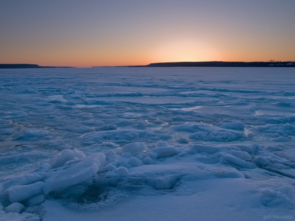 Ice at sunrise.