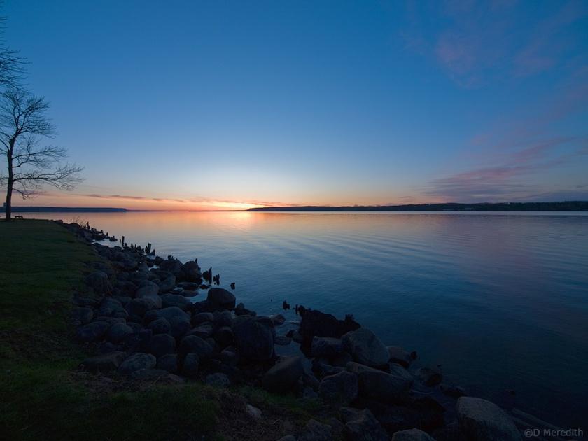 A spring sunrise.