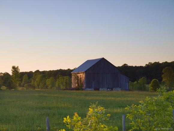 Old barn in the spring.