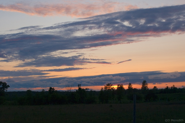 Sunset over the South Bruce Peninsula.