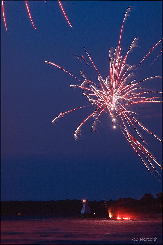 Canada Day fireworks, Southampton.