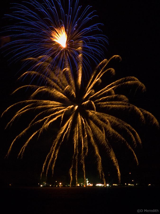 Fireworks at the Wiarton Village Fair.