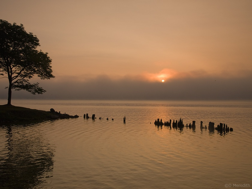 Colpoy's Bay at sunrise.