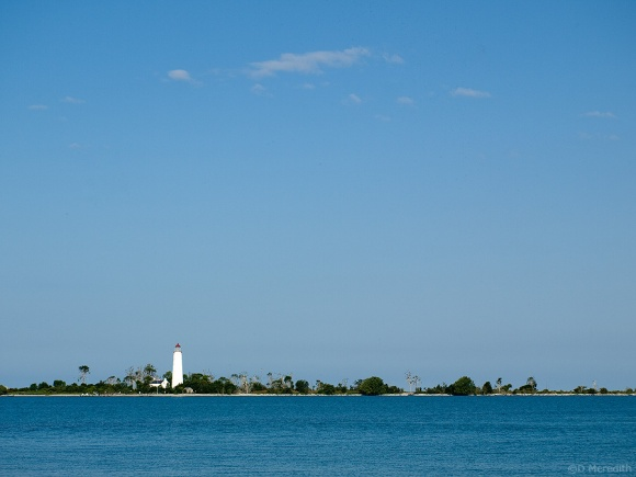 Chantry Island and it's lighthouse.