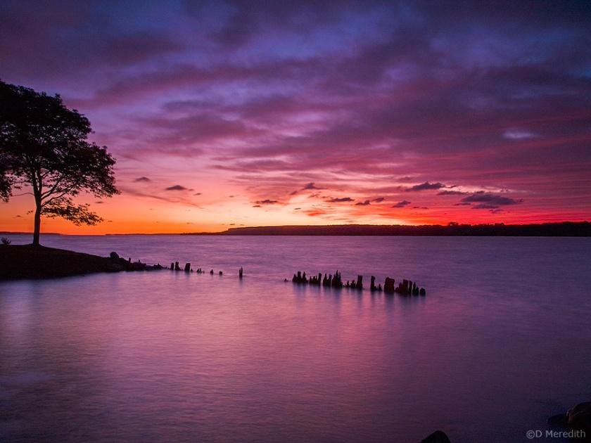 Colpoy's Bay and the Niagara Escarpment at dawn.