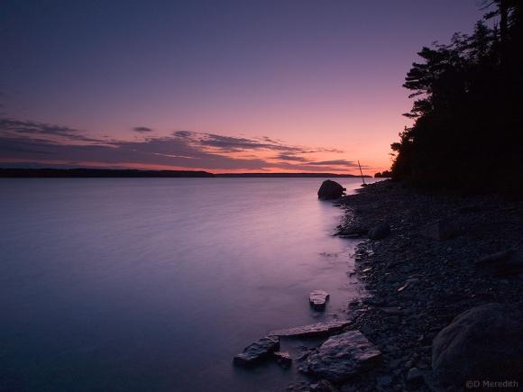 Dawn on Colpoy's Bay.