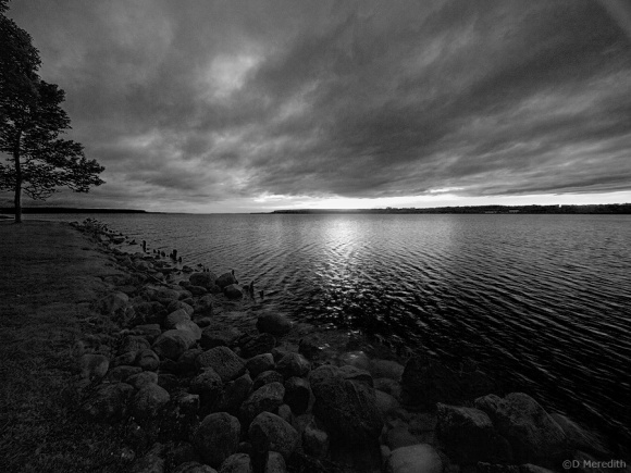 Colpoy's Bay in monochrome.