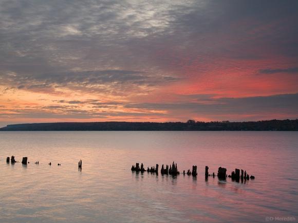 Sunrise over Colpoy's Bay and the Niagara Escarpment.