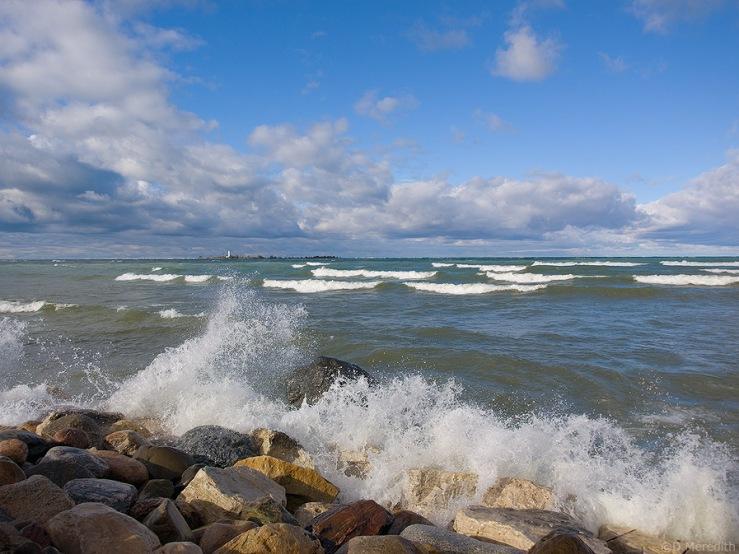 Lake Huron shoreline.