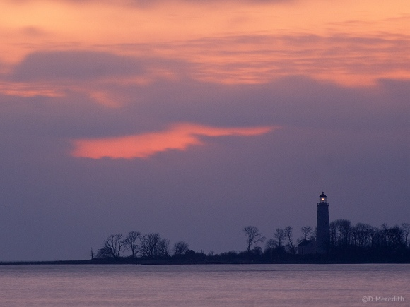 Lighthouse at sunset.