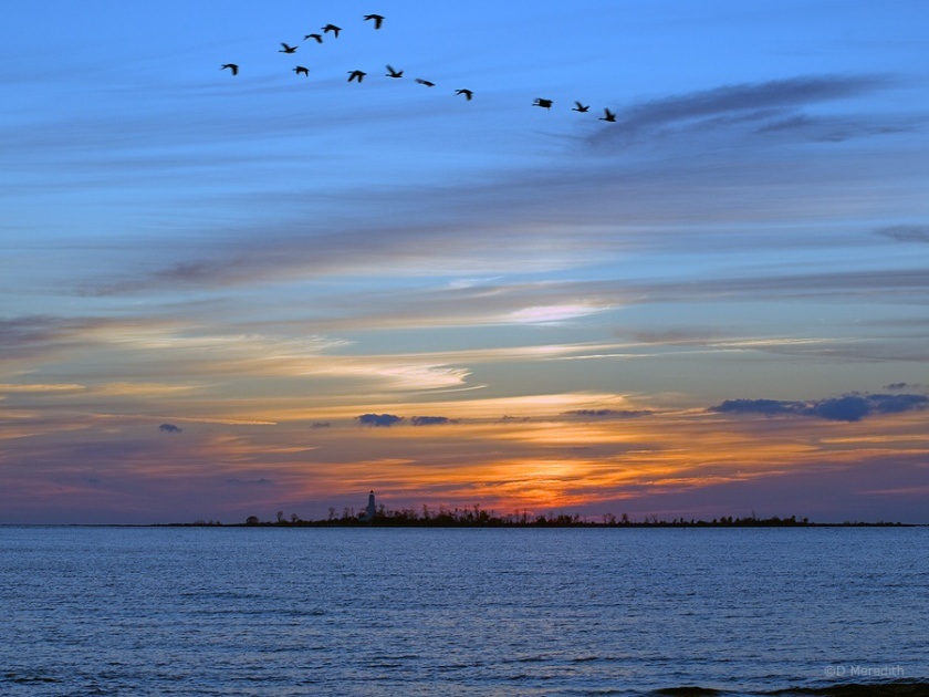 Chantry Island at sunset.