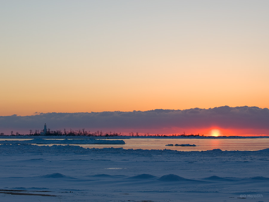 Bank of cloud at sunset.