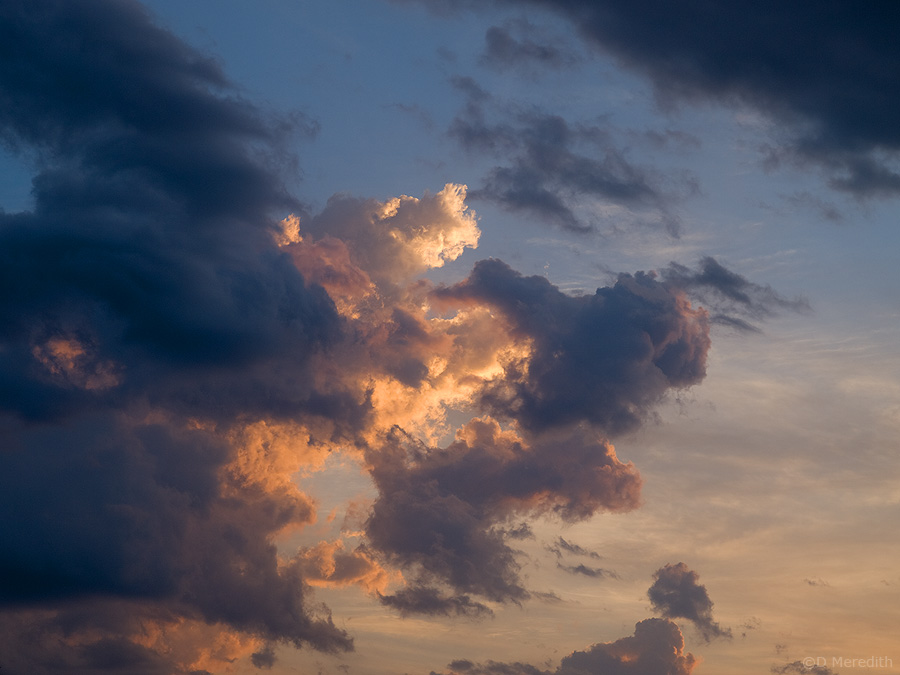 Light on clouds.