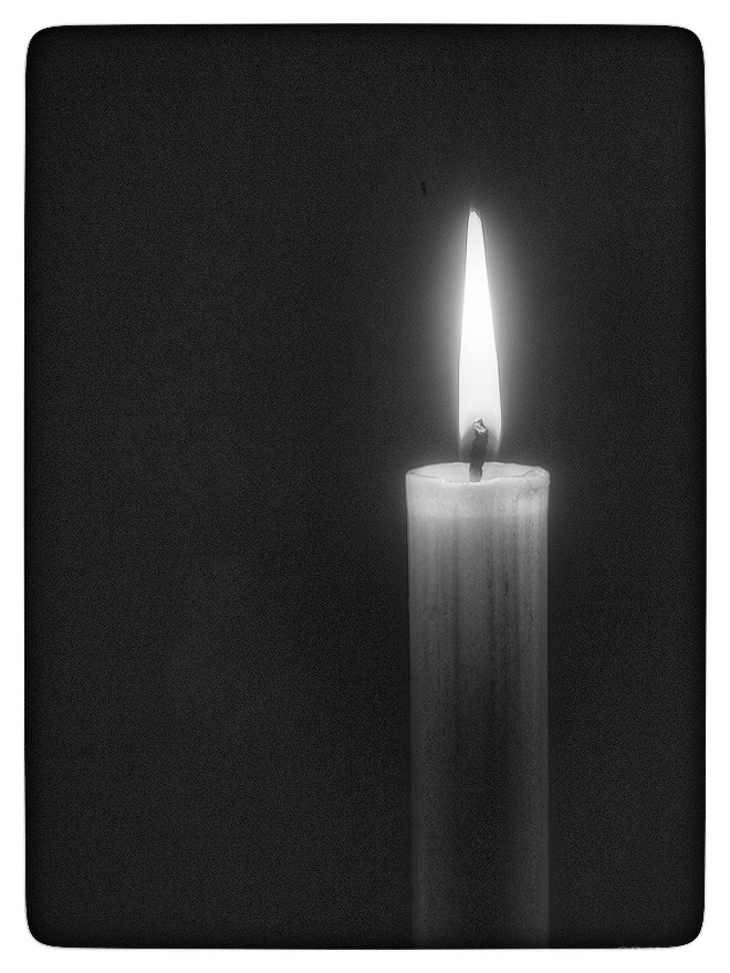 Monochrome candle.