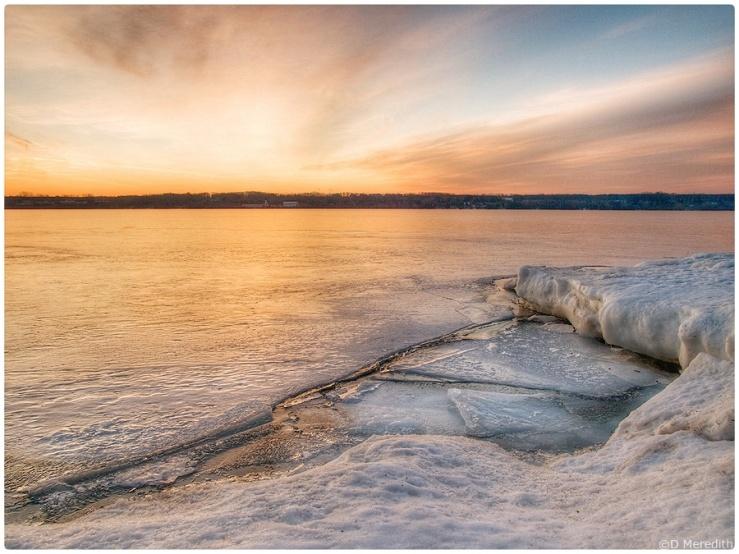 Ice at sunrise.