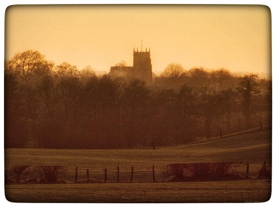 Church at sunset.