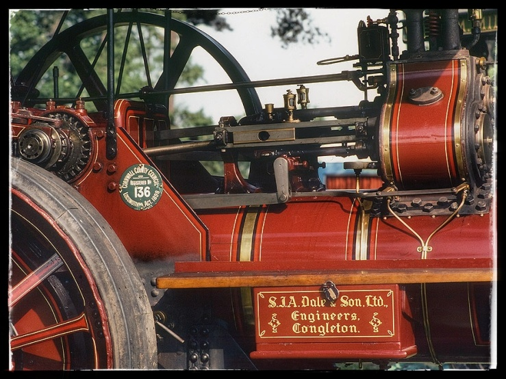 Detail of a traction engine.