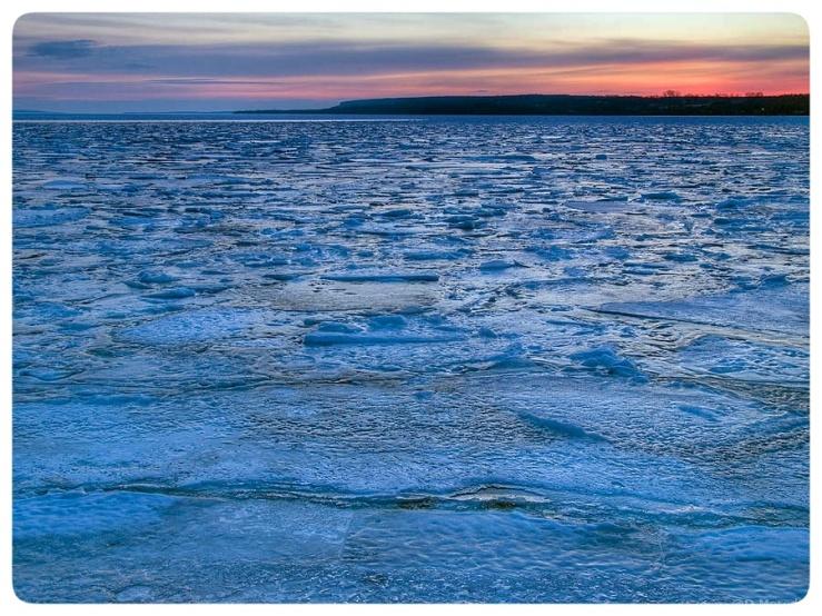 Frozen Colpoy's Bay.