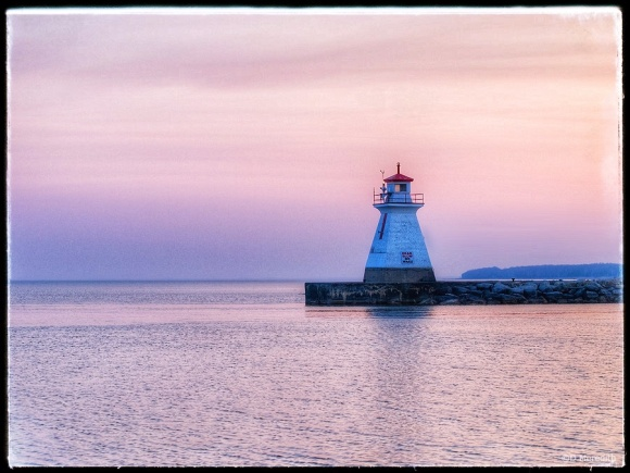 Range light at the mouth of the Saugeen River.