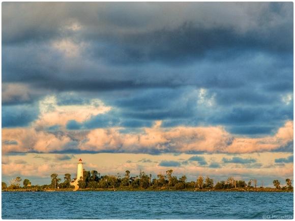 Chantry Island Lighthouse at sunrise.
