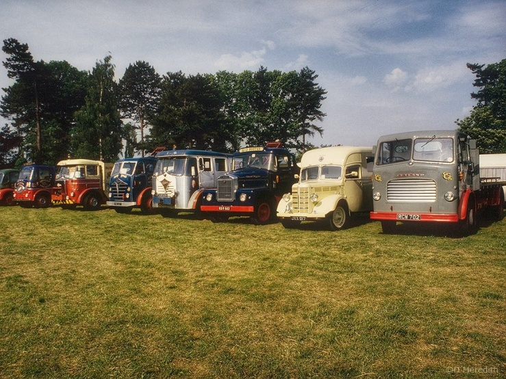 Old commercial vehicle display.