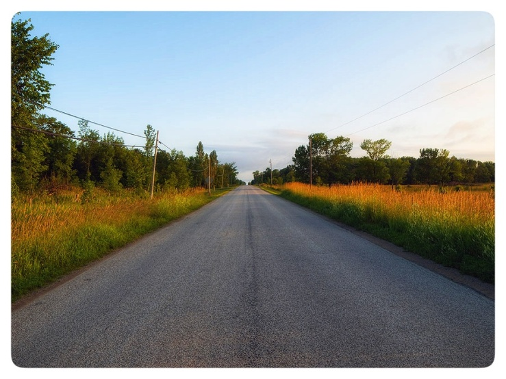 A spring back road.