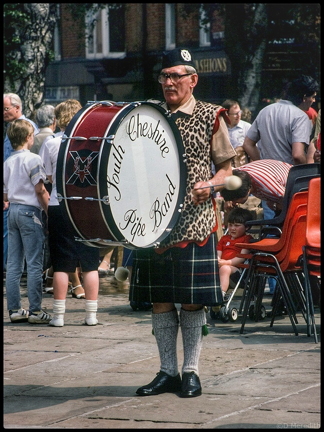 Pipe Band drummer.