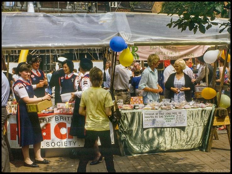 Some fair stalls.