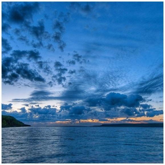 Blue clouds at dawn.