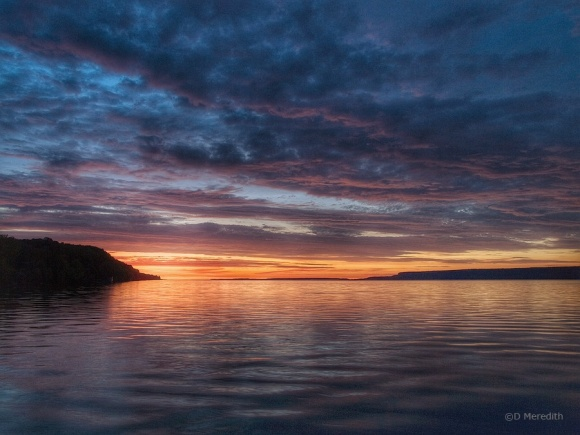 Colpoy's Bay and the Niagara Escarpment at sunrise.