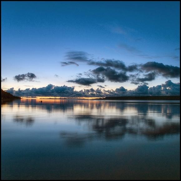 July Squares - Blue