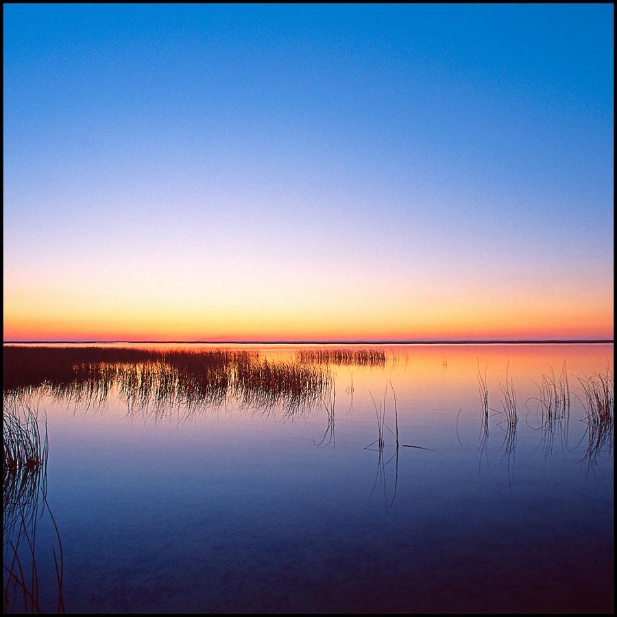 July Squares: Blue sunset.