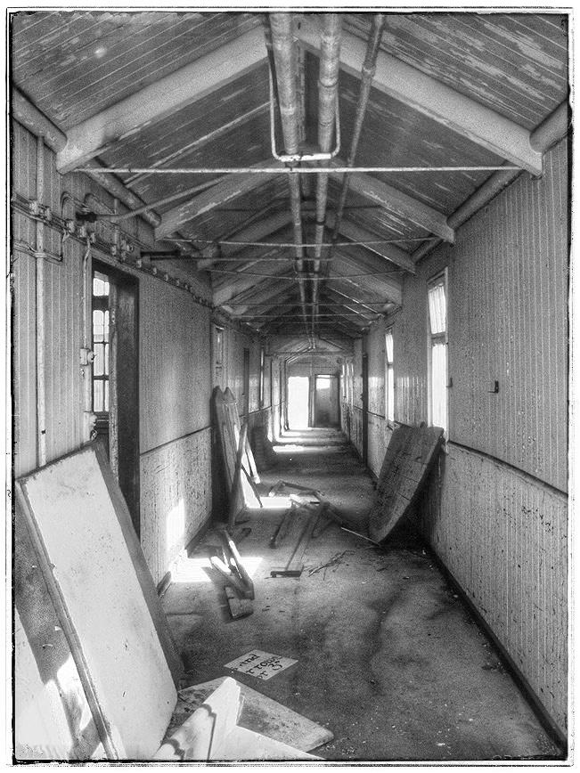 Cee's B & W Photo Challenge: Indoor Walkways, Hallways, Elevators