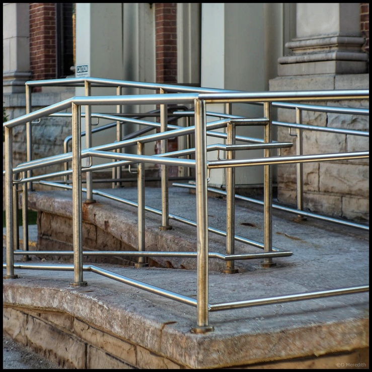 October Squares: Stainless Steel Lines
