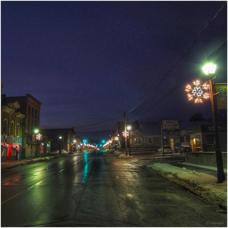 January Squares: Town Lights