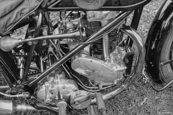 Cee's Black and White Photo Challenge: Anything with a Motor or Engine