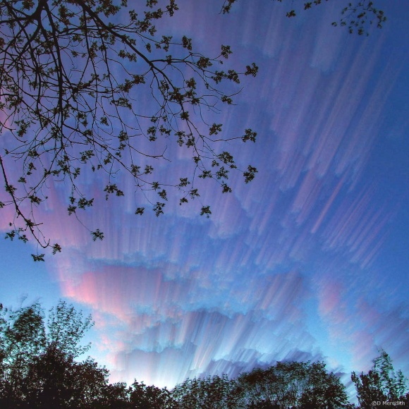 July Squares: Perspective on clouds at dusk