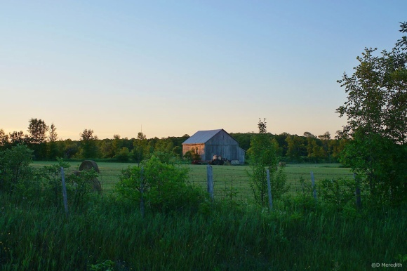 Early morning light on a barn