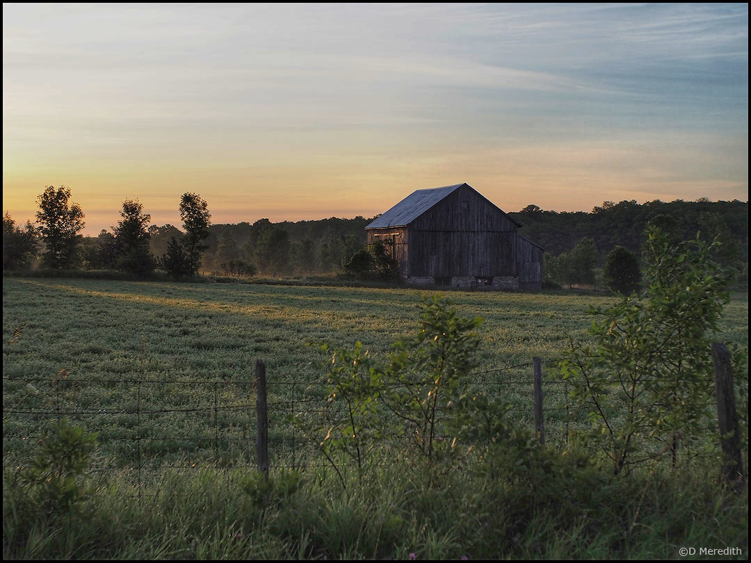 Six Word Saturday: An Old Barn at First Light