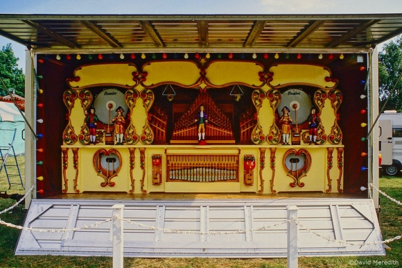 Steam powered fairground organ