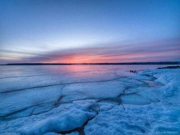 Travel Tuesday: Cracked Ice Along the Shoreline