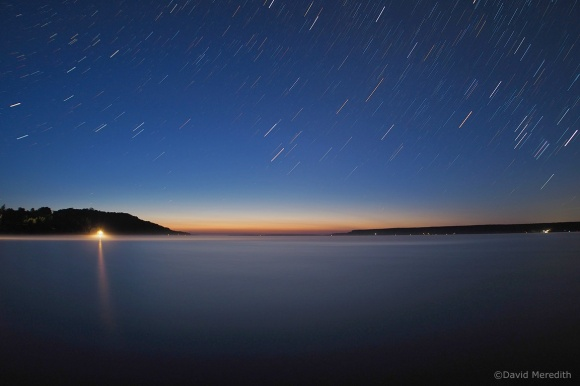 2021: Star trails over Colpoy's Bay